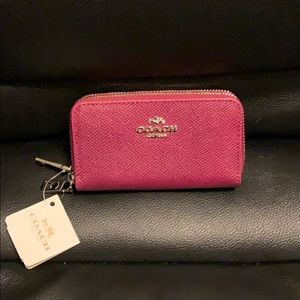 NEW Authentic COACH Double Zip Coin Case